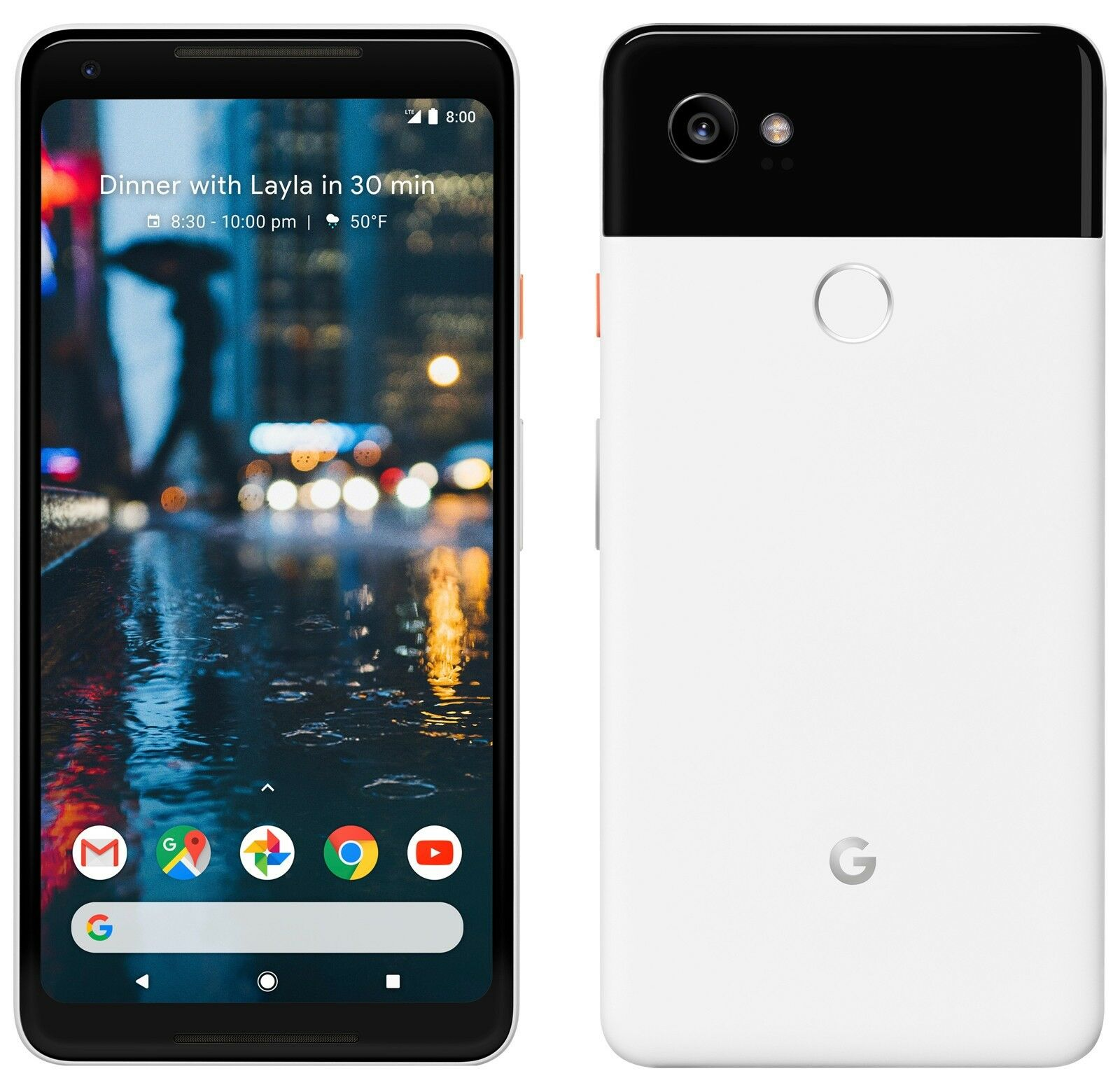 beb247d67d06 Details about Google Pixel 2 XL 64GB Factory Verizon + GSM Unlocked Black  and White Smartphone