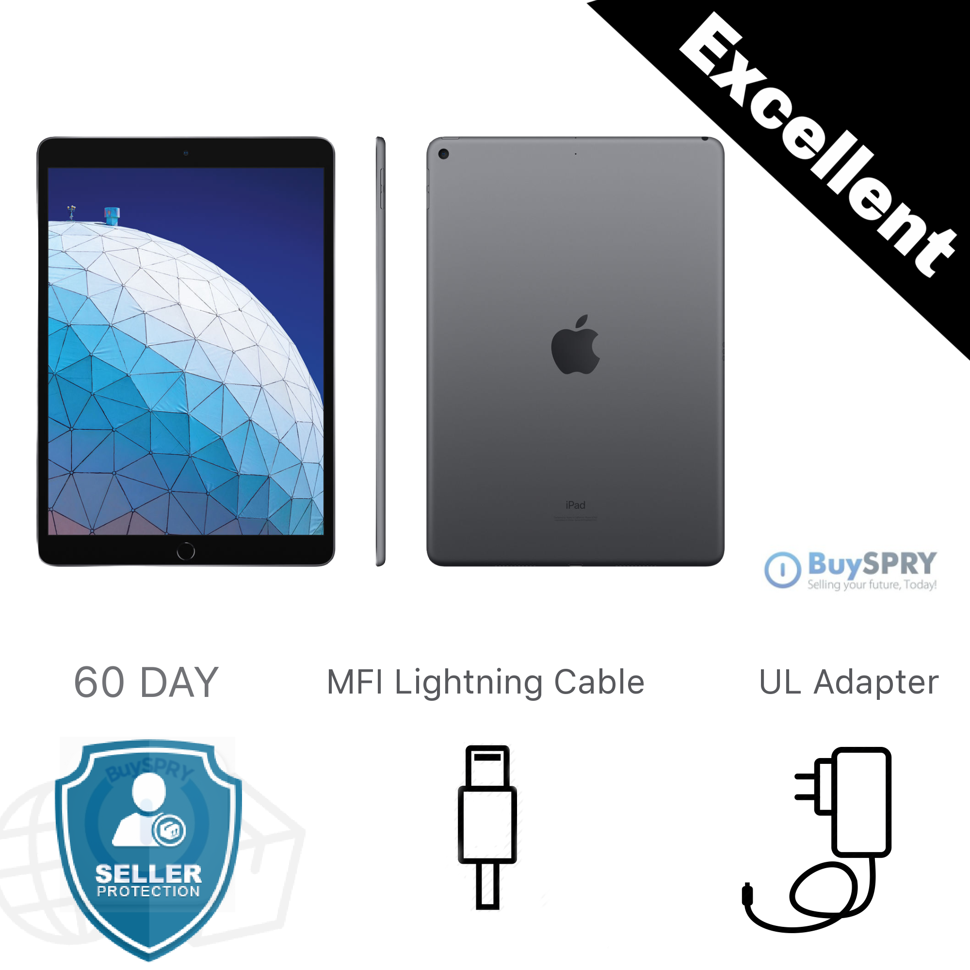 Apple iPad 10.2″ 32GB 128GB 🍎 7th Generation WiFi and Cellular iOS Tablets